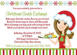 christmas cookie party invitations cimvitation
