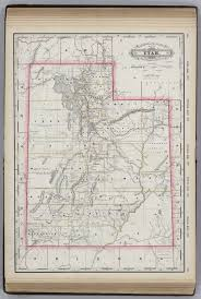 Map Of Utah Cities by Utah David Rumsey Historical Map Collection
