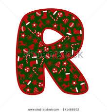 letter r christmas symbols stock vector 141468892 shutterstock