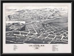 Las Vegas New Mexico Map by Las Vegas Nm 1882 Vintage City Maps Restored City Maps