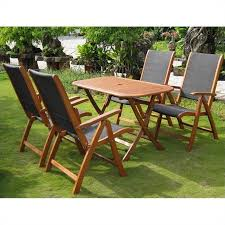 5 Pc Patio Dining Set 5 Wood Patio Dining Set In Tt Re 053 Pc 027 4ch