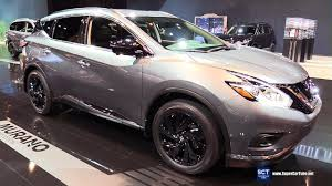 2017 nissan murano platinum 2017 nissan murano midnight edition exterior and interior