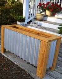 Metal Planter Box by In The Garden Diy Fresh Home Planter Box Our Blog
