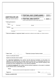 electrical minor works certificate template electrical safety certificate template qld choice image