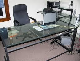L Shaped Glass Desk Office Depot  Home Design Ideas