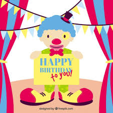 wedding invitation clown birthday greeting card vector show clowns happy birthday card with a clown vector free