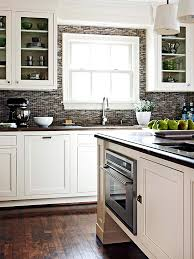 kitchen backsplash for white cabinets contrasting kitchen white cabinets and grey backsplash