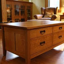 mission style coffee table light oak custom mission style coffee table by montana cabinet canoe