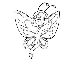 imagenes de mariposas faciles para dibujar dibujo de hada mariposa contenta para colorear dibujos net