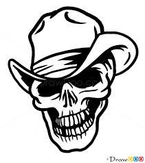 how to draw cowboy skull tattoo skulls
