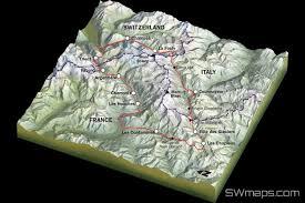 Map Of Tour De France by Trek The Tour Du Mont Blanc Tmb Adventure Alternative Expeditions