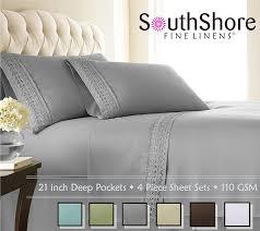amazon com southshore fine linens 4 piece 21 inch deep pocket