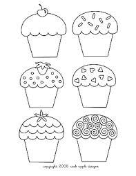 cute cupcake coloring pages cupcake coloring page u0026 embroidery pattern free prints