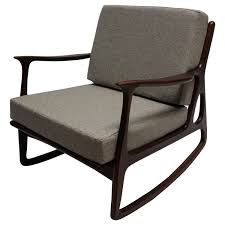 Modern Nursery Rocking Chair Furniture Inexpensive Upholstered Rocking Chair Cushioned Chairs