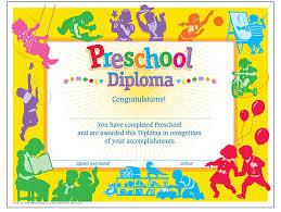 preschool graduation certificate graduation certificate template for preschool apa templates