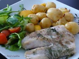 cuisiner pomme de terre grenaille pommes de terre grenaille filet de perche à l aneth recette ptitchef