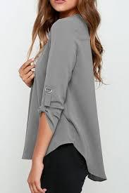 sleeve chiffon blouse s fancy v neck sleeve chiffon blouse oasap com
