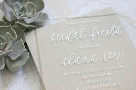 Cheap Wedding Shower Invitations Alana U0027s Otomi Foil Acrylic Bridal Shower Invitations