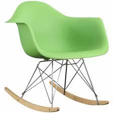 Eames Fiberglass Rocking Chair Modway Rocker Kids Contemporary Lounge Armchair Multiple Colors