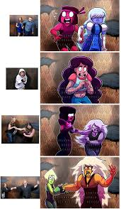Haunted House Meme - steven universe haunted house reaction meme by prpldragonart on