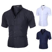 unbranded short sleeve dress shirts for men ebay