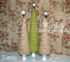 diy burlap christmas trees icandy handmade