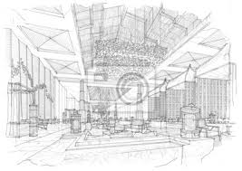 sketch design hotel roof wall mural architecture wallpaper murals