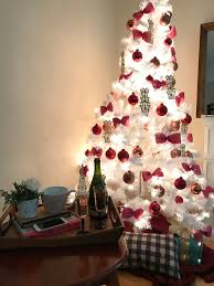 white and pink christmas tree for less than 35
