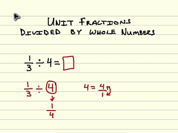 divide unit fractions by whole numbers youtube