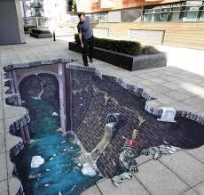 joe hill art 3d pavement art