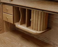 Oak Laptop Desk 42 W Solid Oak Single Pedestal Roll Top Laptop Desk