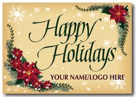 Holiday Business Cards Custom Logo Holiday Postcard Pc613 Harrison Greetings