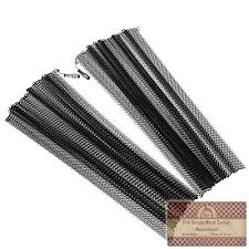 Mesh Curtain Fireplace Screen Midwest Hearth Fireplace Screen Mesh Curtain 2 Panels Each 24