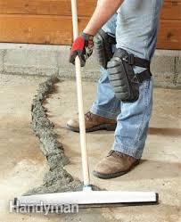 Concrete Floor Repair Diy Concrete Crack Repair Family Handyman