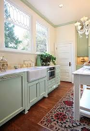 gorgeous colour for cabinets in this contemporary country style