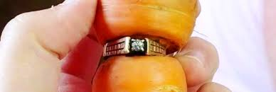 woman s lost engagement ring found rooted to a carrot 13 years