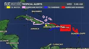 Caribbean Weather Map by Hurricane Irma Hits French Islands Saint Barthelemy Saint Martin