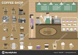 coffee shop infographics elements coffee machine u2014 stock vector