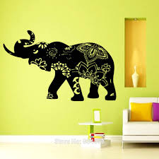 elephant decal indian yoga wall art sticker decal home diy