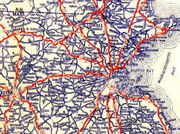 Boston Road Map by Cartological Myopia Richard Nilsen