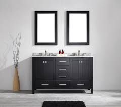 bathroom birch square leather 60 inch mirror modern wall mounted