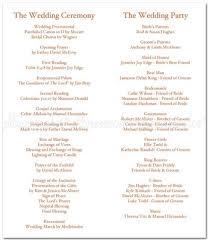 how to do a wedding ceremony program wedding program wording exles photo album wedding ideas