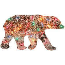polar bear lights outdoor sacharoff decoration