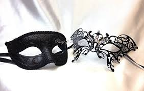 masquerade masks for couples masquerade mask pair for men and women laser