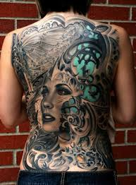 biomechanical tattoo face full back biomechanical tattoo with a woman s face tattoomodels
