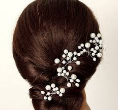 pearl hair accessories four pieces bridal pearl hair pin wedding hair accessories