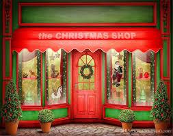 Christmas Photo Backdrops 2017 Merry Xmas Photo Backdrop Christmas Shop Red Door Windows