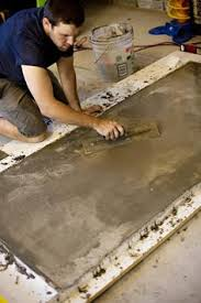 How To Make A Concrete Table by How To Make A Concrete Table Stain And Seal Outdoor Spaces