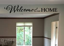 welcome to our home entrance sign wall decal foyer living room welcome to our home family photo wall decal foyer living room entry way feature wall