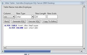 Alter Table Change Data Type Sql Server Ms Sql Server Change Column Type Of Ms Sql Server Database Table